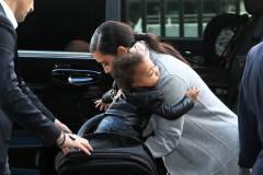 Kim Kardashian & North Check Out Of Paris
