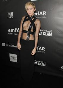 Miley Cyrus at amFAR Inspiration Gala in Hollywood