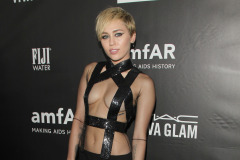 Miley Cyrus at amFAR Inspiration Gala in Hollywood