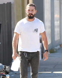 Shia LaBeouf Gets His Workout In
