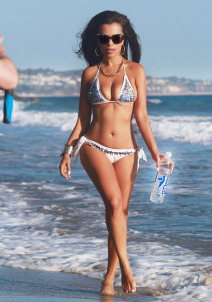 Vivica Mitra Doing A Photoshoot For 138 Water In Malibu