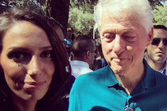 Bill Clinton Stares At Woman's Chest