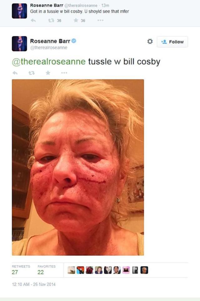 Roseanne Barr Bill Cosby Twitter Joke Pic 2