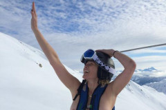 Chelsea Handler Topless on Mountain
