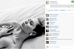 Miley Cyrus Topless Photo on Instagram