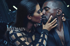 Kim Kardashian and Kanye West Model for Balmain
