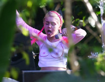 Miley Cyrus Rehearses For Her Concert In Miami