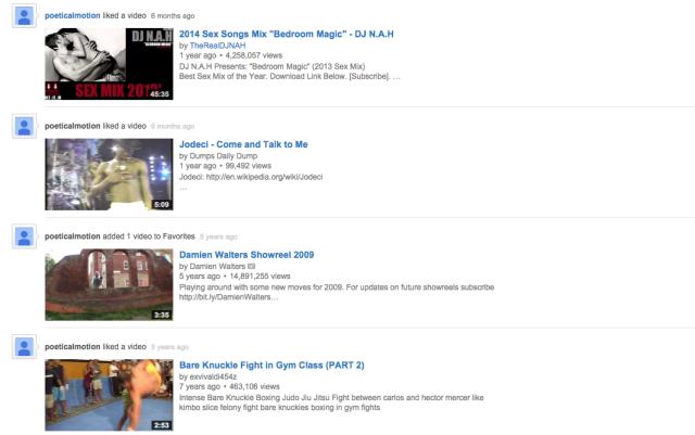 Channing Tatum's YouTube Playlist
