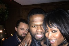 Leo DiCaprio photobombs 50 Cent