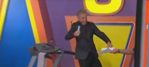 The Price is Right Announcer Treadmill Fall