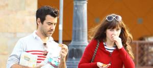 Zooey Deschanel & Jacob Pechenik Stop For Snacks In Studio City