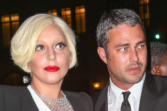Lady Gaga & Taylor Kinney Leaving Their Apartment