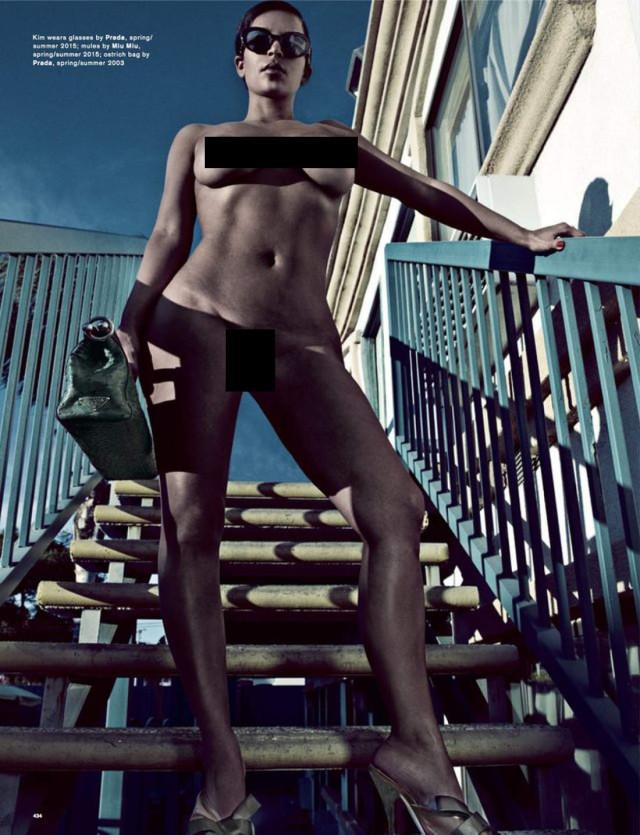 Kim Kardashian Full Front Nude for Love Magazine