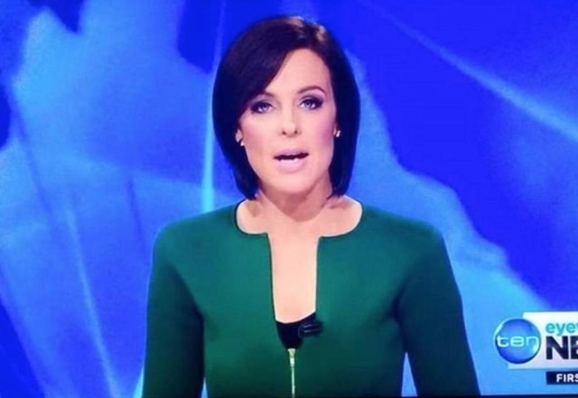 News Anchor Natarsha Belling Dick Outfit