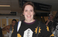 Lena Dunham Lands At LAX Airport