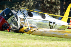 Harrison Ford Crashes Plane Into The Penmar Golf Course - General Views