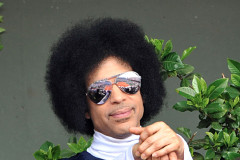 Prince Watches A Match At The French Open