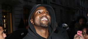 Kanye West Is All Smiles In Paris