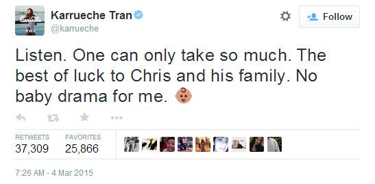 Karrueche Tran Baby Drama Chris Brown Tweet