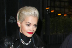 Rita Ora Wears All Black In London