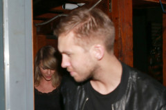 51700781 Singer Taylor Swift and DJ Calvin Harris confirm their relationship as they're seen together on April 2, 2015 in West Hollywood, California. The new couple held hands as they left The Troubadour after having watched Haim perform earlier in the evening. The pair had been rumored to be dating for a little while now... and now it's official! FameFlynet, Inc - Beverly Hills, CA, USA - +1 (818) 307-4813