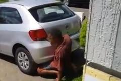 Guy screws car