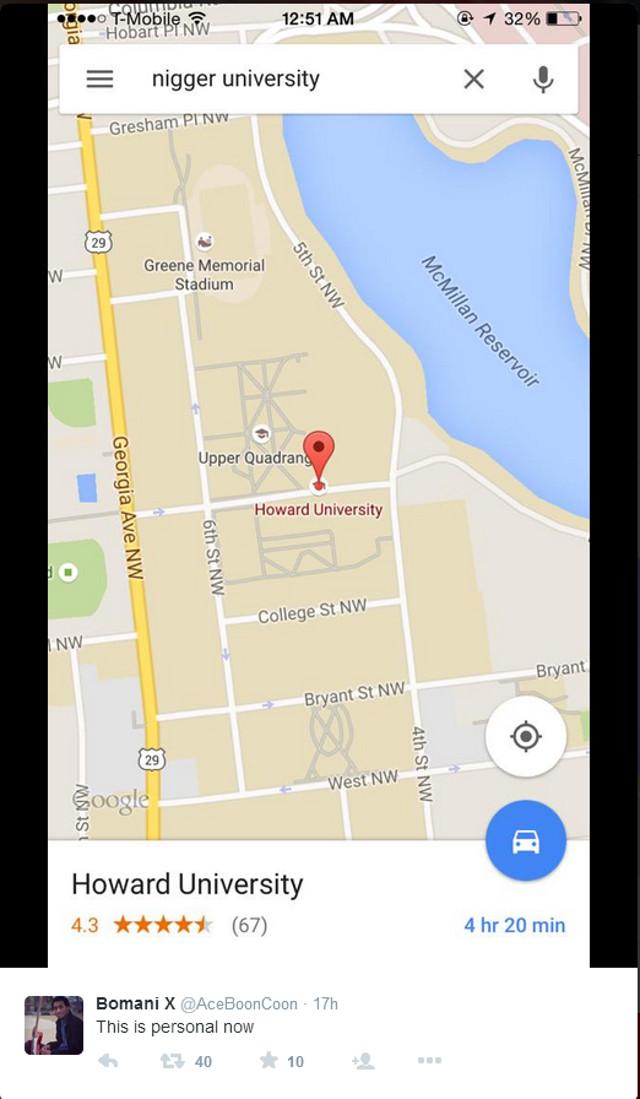 Racial Slur Google Map Search 01