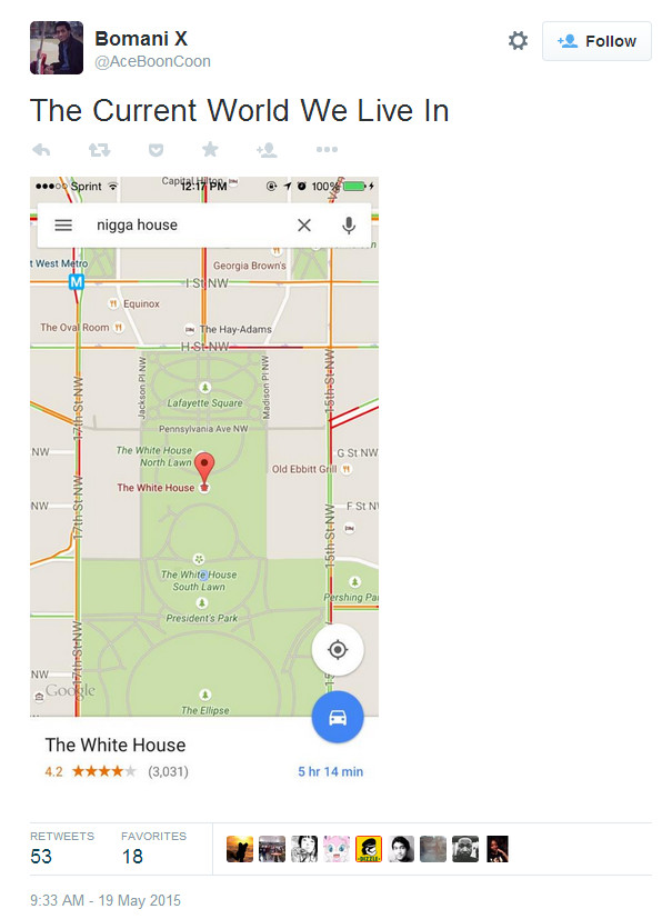 Racial Slur Google Map Search 02
