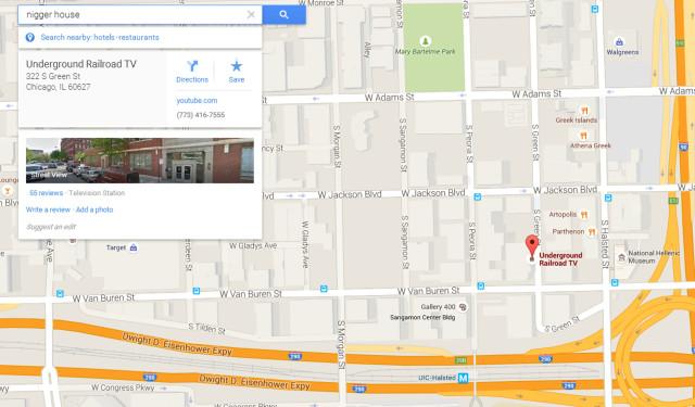 Racial Slur Google Map Search 05