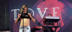 Tove Lo Boob Flash in Boston Censored