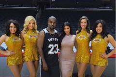 Kim Kanye Staples Center Birthday