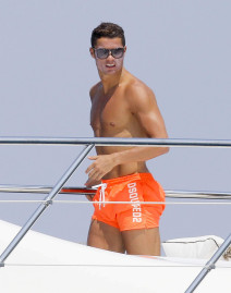 Semi-Exclusive... 51760630 Soccer star Cristiano Ronaldo and his friends enjoy a relaxing day on a yacht near Monaco on June 1, 2015. Cristiano, getting as much vacation time as possible before the start of next soccer season, went swimming and jet skiing. FameFlynet, Inc - Beverly Hills, CA, USA - +1 (818) 307-4813 RESTRICTIONS APPLY: NO GERMANY,NO ITALY,NO FRANCE,NO SPAIN