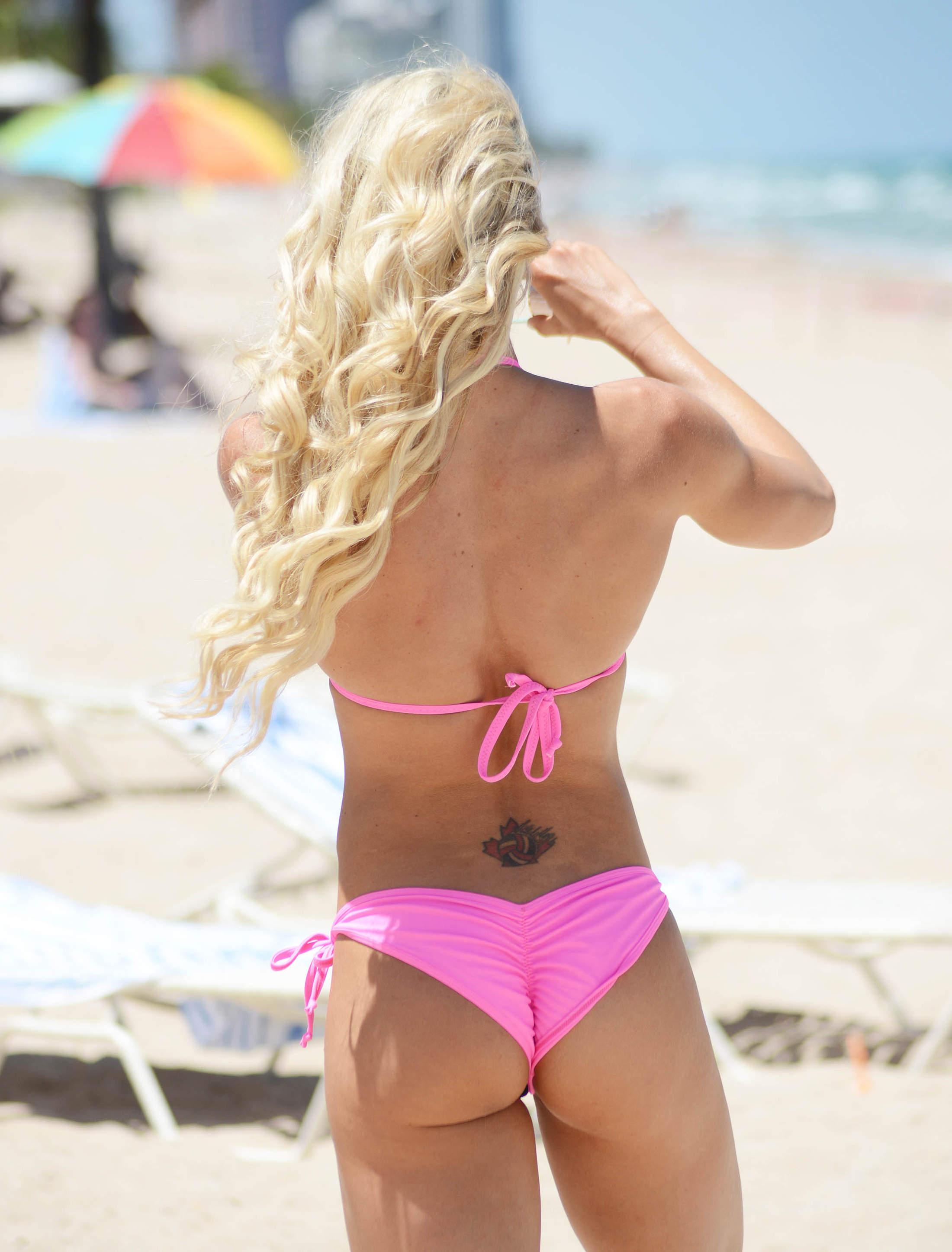 Jill Bunny Shows Her Bikini Body Miami