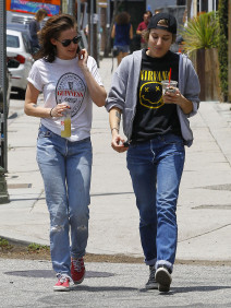 51765796 'Twilight' actress Kristen Stewart and her rumored girlfriend Alicia Cargile are spotted out for lunch in Silverlake, California on June 6, 2015. The pair laughed and joked as they tried to keep their heads down when heading back to the car. FameFlynet, Inc - Beverly Hills, CA, USA - +1 (818) 307-4813