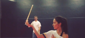 olivia munn aaron rodgers swordplay