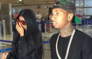 51779942 Couple Kylie Jenner and Tyga departing on a flight at LAX airport in Los Angeles, California on June 22, 2015. The pair were wearing matching black outfits and grey sneakers as they were catching a flight to Paris. FameFlynet, Inc - Beverly Hills, CA, USA - +1 (818) 307-4813