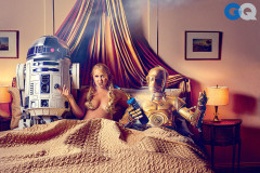 Amy Schumer Covers GQ Magazine with R2D2 and C3PO