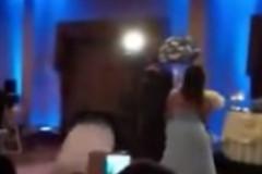 backflip knockout of bride
