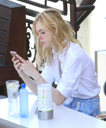 Elle Fanning Lunches In West Hollywood