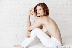 Kate Mara Topless in August 2015 Esquire