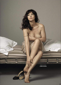 Monica Bellucci Poses for August 2015 GQ Italia