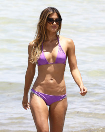 51801761 Model Rachel Barnes shows off her bikini body while filming a fitness video in Miami, Florida on July 17, 2015. Jessica rose to fame after starring in a Justin Bieber music video. FameFlynet, Inc - Beverly Hills, CA, USA - +1 (818) 307-4813