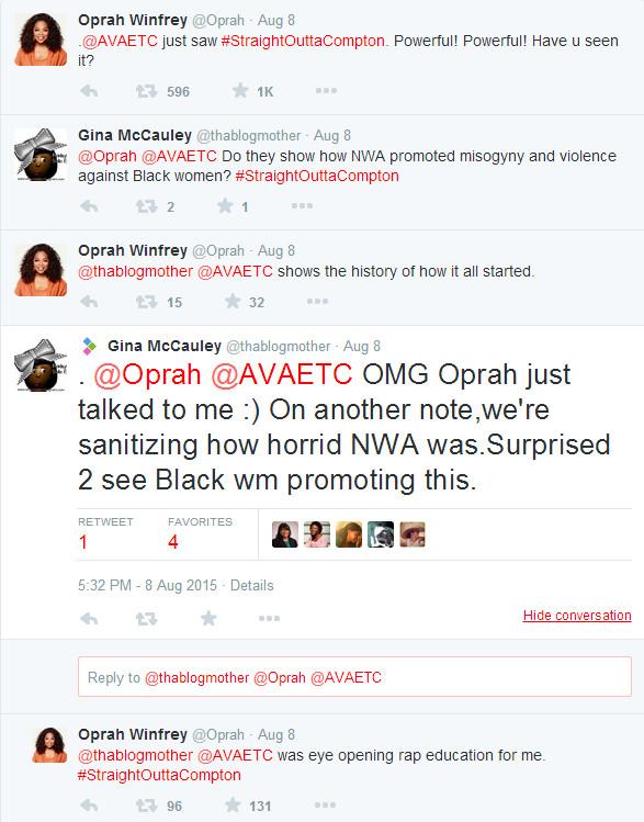 Oprah Winfrey Tweets Praise for Straight Outta Compton 01