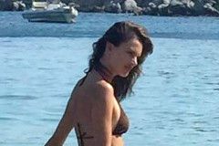 51819762 Victoria's Secret model Alessandra Ambrosio shows off her bikini body as she enjoys a day at the beach in Mykonos, Greece on August 10, 2015. Alessandra has been hitting the beaches all over the world, most recently in Rio de Janeiro. FameFlynet, Inc - Beverly Hills, CA, USA - +1 (818) 307-4813 RESTRICTIONS APPLY: USA ONLY