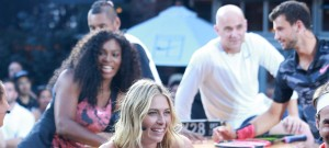51831830 Celebrities attend Nike's 'NYC Street Tennis' event on August 24, 2015 in New York City. Celebrities attend Nike's 'NYC Street Tennis' event on August 24, 2015 in New York City. Pictured: Maria Sharapova, Serena Williams FameFlynet, Inc - Beverly Hills, CA, USA - +1 (818) 307-4813