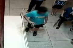 Video of kid falling into million dollar painting