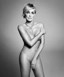 Sharon Stone Naked in Harper's BAZAAR