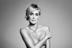 Sharon Stone Naked in Harper's BAZAAR