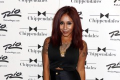 "51830806 Reality star Nicole ""Snooki"" Polizzi and friends attend the Chippendales Show at the Chippendales Theater in the Rio All-Suite Hotel & Casino in Las Vegas, Nevada on August 22, 2015. FameFlynet, Inc - Beverly Hills, CA, USA - +1 (818) 307-4813"