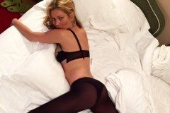 Kate Moss Lying on Bed